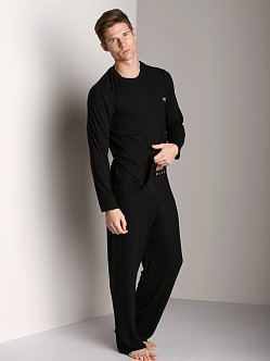 Hugo Boss Modal Long Sleeve Shirt Black
