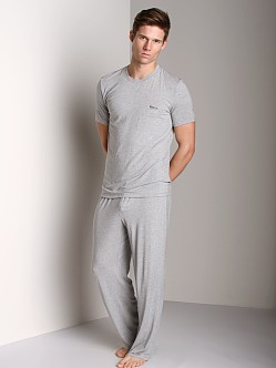 Hugo Boss Modal Crew Neck Shirt Grey