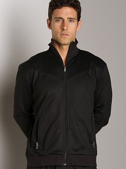 Hugo Boss Zipper Collar Jacket Black