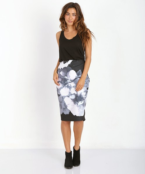 The Fifth Label Roadhouse Skirt Black Floral