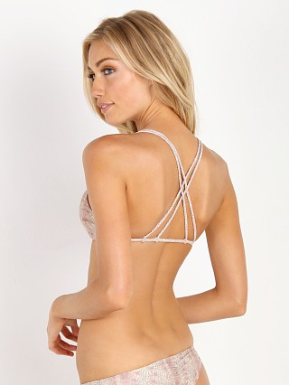 Stone Fox Swim Indie Braided Halter Top Nude Snake