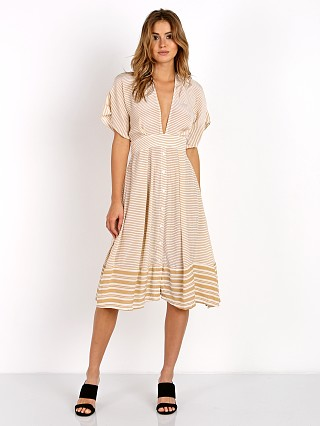 Faithfull the Brand Mustang Midi Dress Camp Cove Stripe
