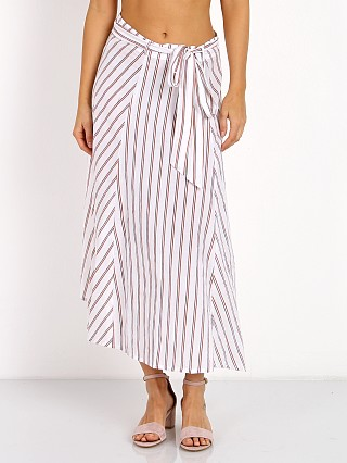 Faithfull the Brand Caribe Wrap Skirt Bay Stripe