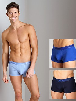 2xist 3-Pack No-Show Trunks Navy/Cobalt/Porcelain