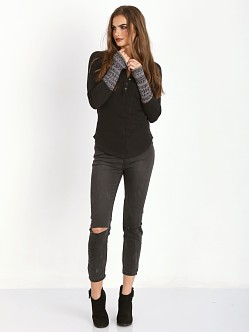 Free People Alpine Cuff Henley Black