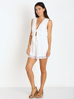 Wyldr Run the World Playsuit Ivory