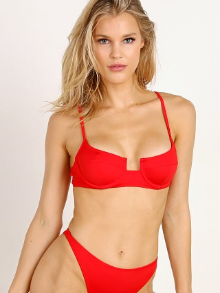 Solid & Striped x RE/DONE The Hollywood Bikini Top Red