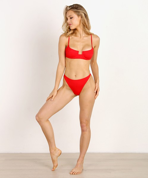 fb97dbd5e51a0 Solid   Striped x RE DONE The Hollywood Bikini Top Red WS-2049-1512 - Free  Shipping at Largo Drive