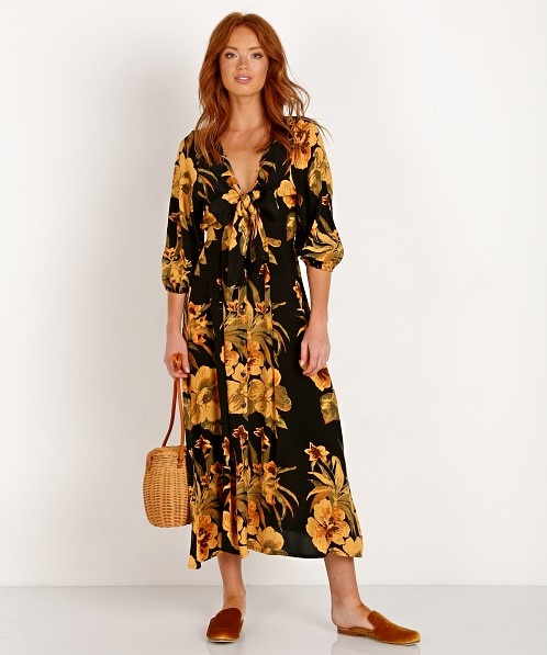 Faithfull the Brand Oliviera Midi Dress Caribbean Print