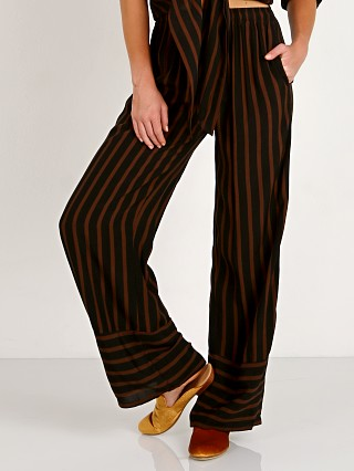 Faithfull the Brand Havana Pants Mazur Stripe - Espresso