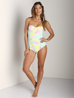 Zinke Starboard One Piece Chevron Print Mint
