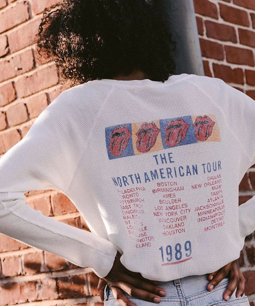 Daydreamer Rolling Stones Tour 89 Thermal Vintage White
