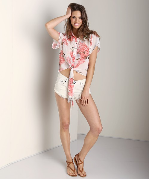 Show Me Your Mumu Watson Tie Top Blossom Blush