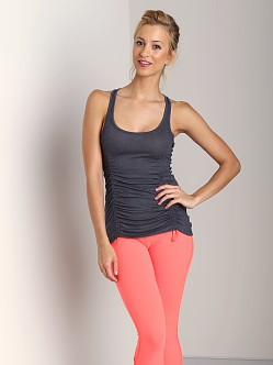 Beyond Yoga Racerback Drawstring Tank Heather Grey