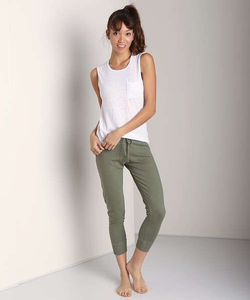 Beyond Yoga Drawstring Capri Cargo Green