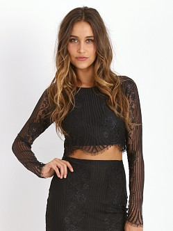 For Love & Lemons Lolo Crop Top Black