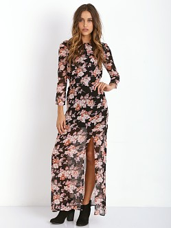 For Love & Lemons Autumn Maxi Dress Midnight Floral