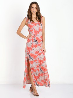 For Love & Lemons Mai Tai Maxi Dress Red Orchid