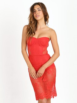 For Love & Lemons Garden Isle Dress Cherry Red