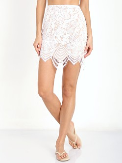 For Love & Lemons Guava Skirt White & Nude
