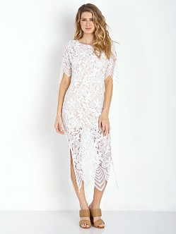 For Love & Lemons Luna Maxi Dress White