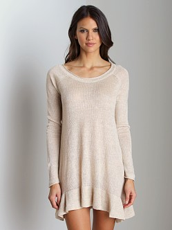 Free People Swing Sweater Ivory Oatmeal
