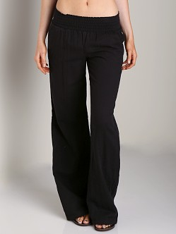 Splendid Smocked Pant Black