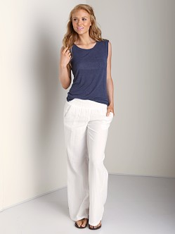 Splendid Smocked Pant White
