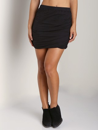Splendid Ruched Mini Skirt Black
