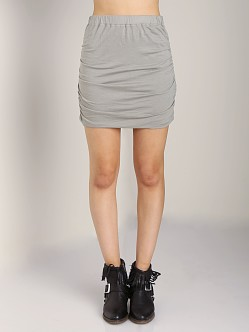 Splendid Ruched Mini Skirt Elm