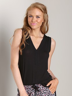 Splendid Placket Tank Black