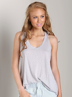 Splendid Slub Racer Tank Dove Grey