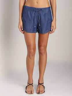 Splendid Chambray Dolphin Short Dark Wash