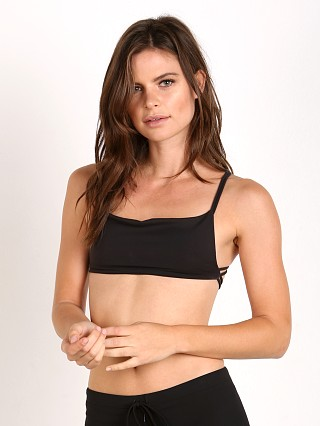 Indah Prosecco Crop Bralette Tech Black