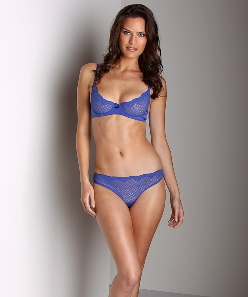 2199848dc4b Timpa Duet Lace Underwire Demi Bra Electric Blue 016449 - Free Shipping at  Largo Drive