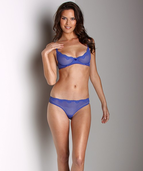 dcd9256e1e7c Timpa Duet Lace Low Rise Thong Electric Blue 615700 - Free Shipping at  Largo Drive