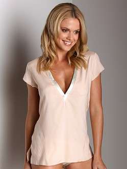 La Fee Verte Silk Top Blush/Mint