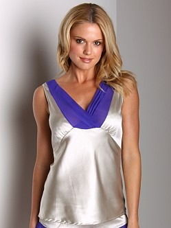 La Fee Verte Silk Top Grey/Purple