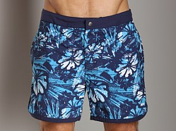 Hugo Boss Orange Madagascar Swim Trunk Navy