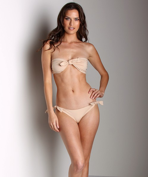 Cali Dreaming Nubby Bandeau Nude Shimmer