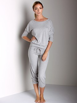 Beyond Yoga Drawstring Capri Heather Grey