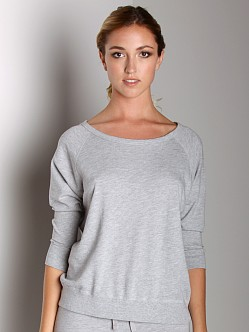 Beyond Yoga Raglan Pullover Heather Grey