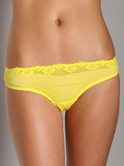 Timpa Duet Lace Low Rise Thong Yellow