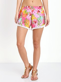 Wonderland Honolulu Pom Pom Shorts Pink Hibiscus