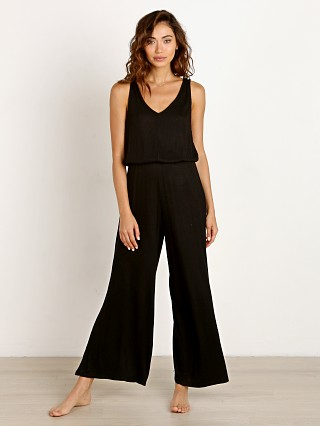 Eberjey Elon Relaxed Jumpsuit Black