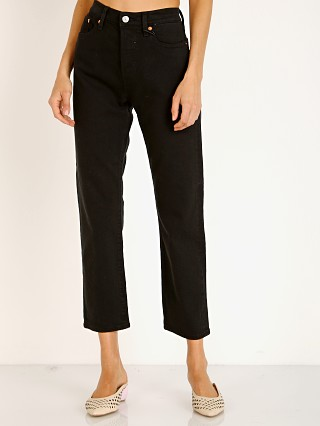 Levi's Wedgie Straight Leg Jeans Black Heart