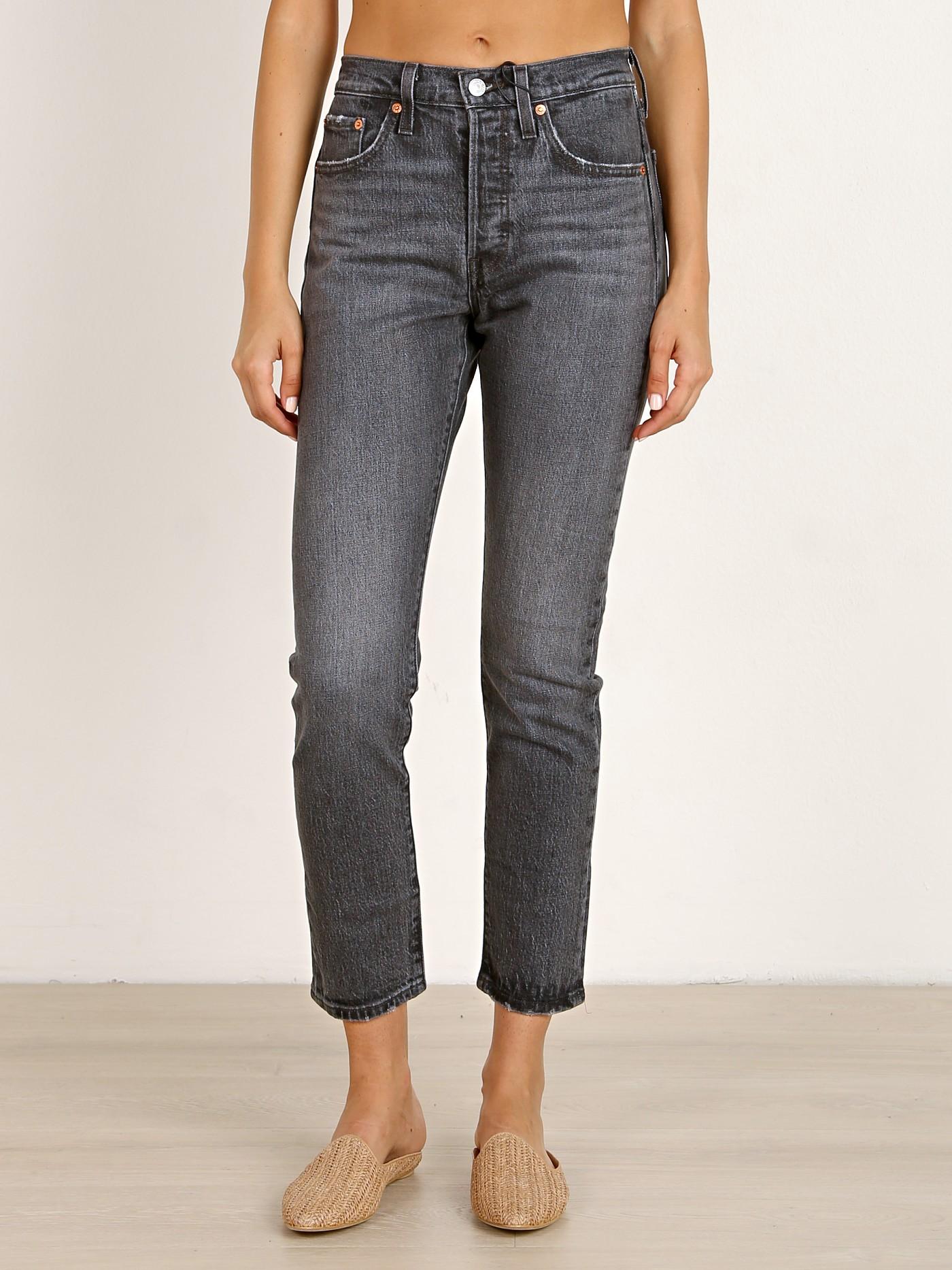 0a67ec19d0b9 Levi's 501 Skinny Jeans Coal Black 29502-0063 - Free Shipping at Largo Drive