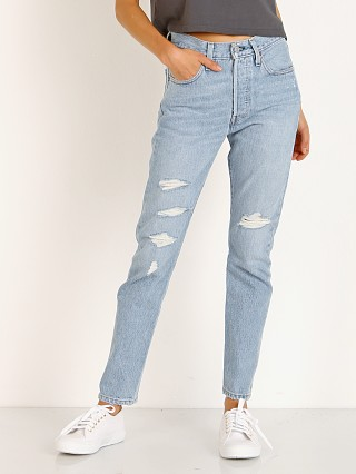 Model in humble pie Levi's 501 Premium Jeans