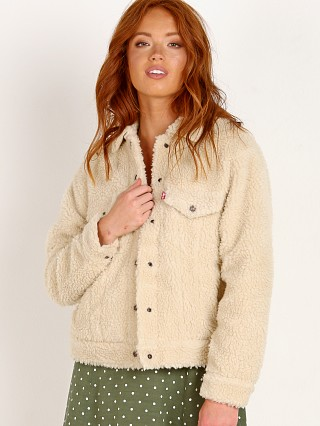 Levi's All Over Sherpa Trucker Cloud Cream