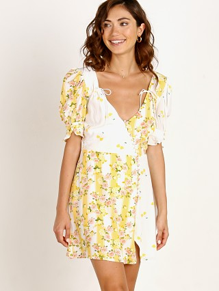 For Love & Lemons Savannah Wrap Mini Dress Buttercreme